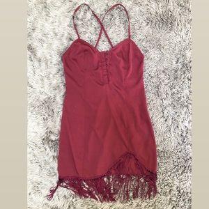 NBD burgundy dress